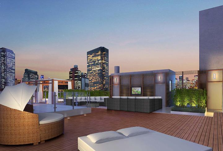 Rooftop at 431 West 37 Street - Mantena NYC rentals