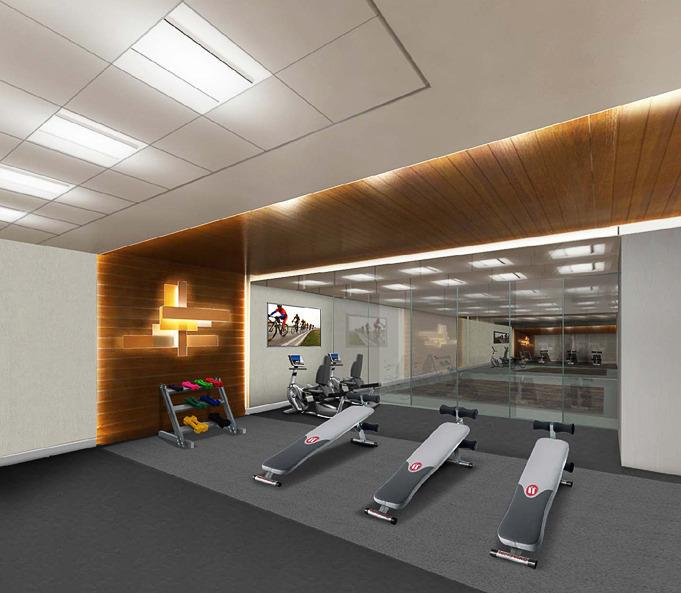 Gym at 431 West 37 Street - Mantena NYC rentals