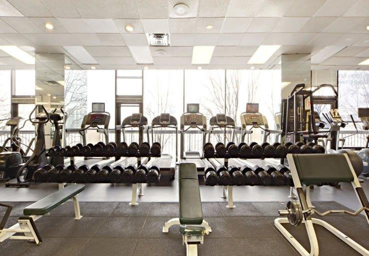 The Building's State-of-the-Art Fitness Center at 100 Getaway Plaza
