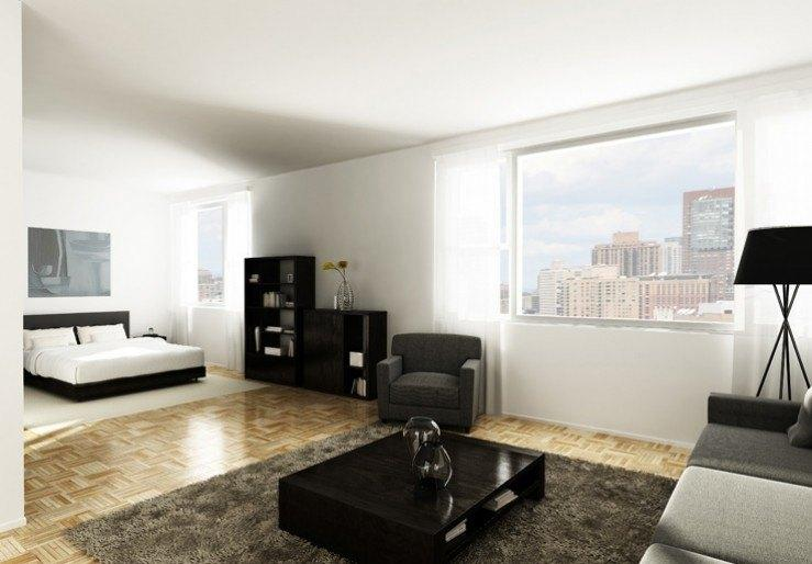 100 Gateway Plaza Apartment Living Room