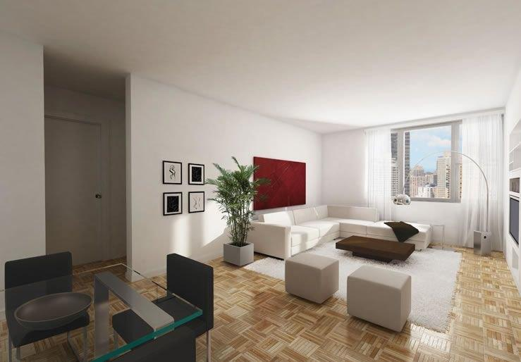 100 Gateway Plaza Apartment Living Room