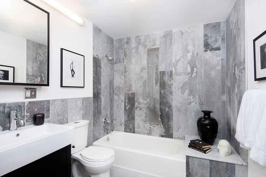 Bathroom at Rocket Factory Lofts in Williamsburg - Apartments for rent
