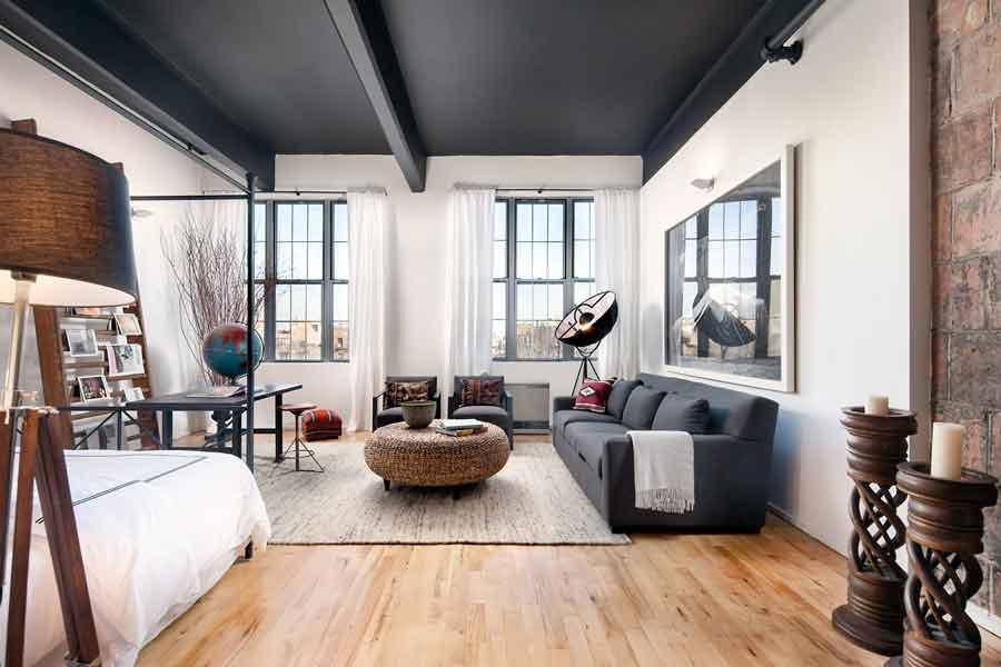 Livingroom at 100 South 4th Street in NYC