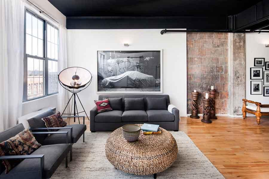Apartments for rent at Rocket Factory Lofts in Williamsburg - Livingroom