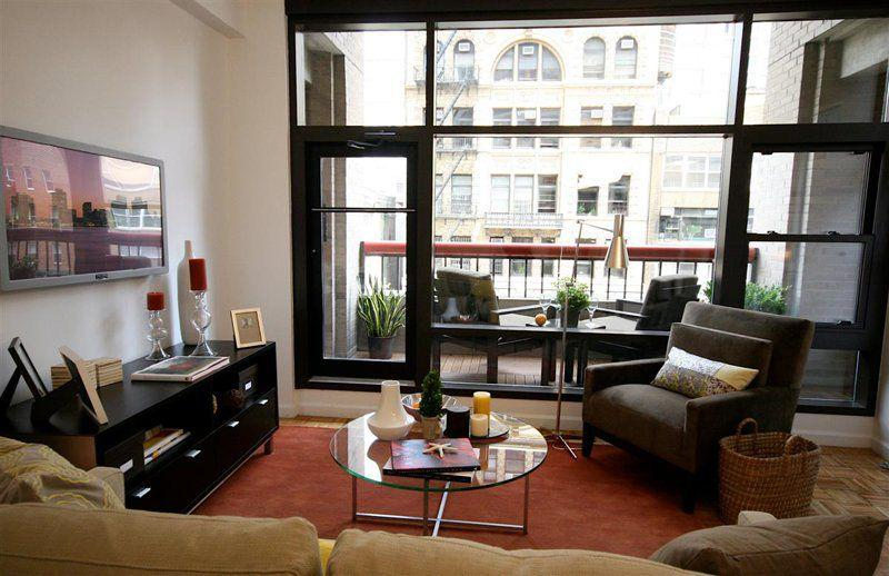 Living Room at The Milan in Manhattan - Apartments for rent