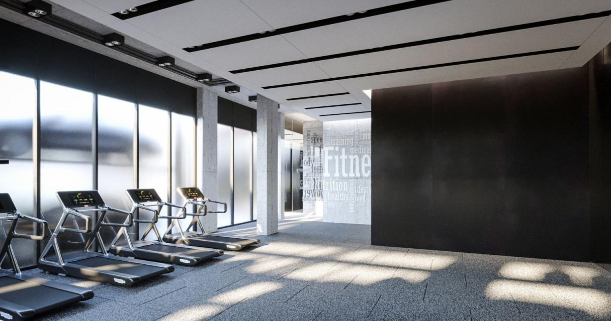 The Building's Gym at 123 Hope Street