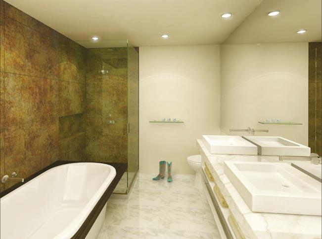 133 West 22nd Street New Construction Building Bathroom - NYC Condos