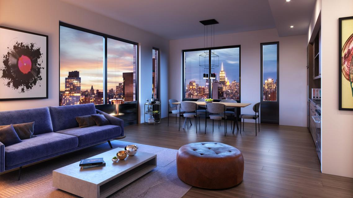 Apartments for rent at 145 Clinton Street in Lower East Side - Living Room