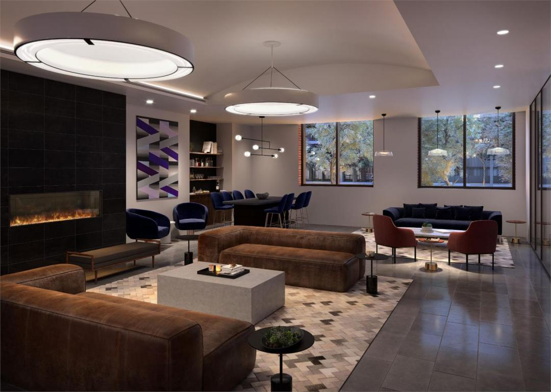 Lounge at The Rollins in NYC- Apartments for rent