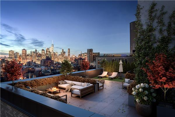 Apartments for rent at 153 Remsen Street in NYC - Rooftop Deck