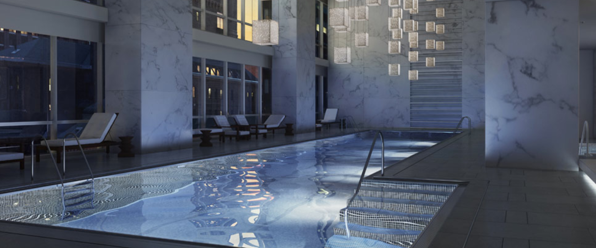 Individual indoor pool at One 57 in NYC