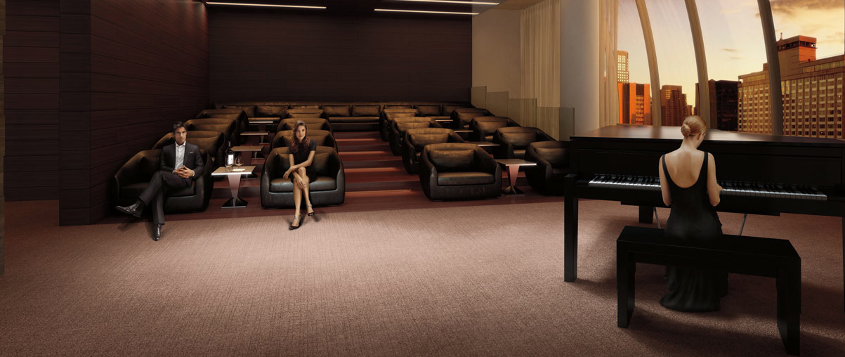 Wide variety of amenities at One 57 - Performance room