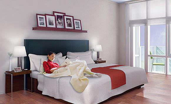 1600 Broadway Bedroom - Manhattan Condos