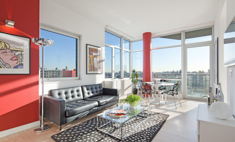Livingroom 163 Washington Avenue - Condos for Rent in Brooklyn