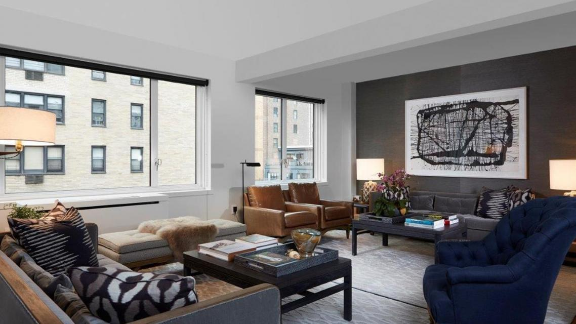 Living Room at 165 East 66th Street in NYC - Apartments for rent