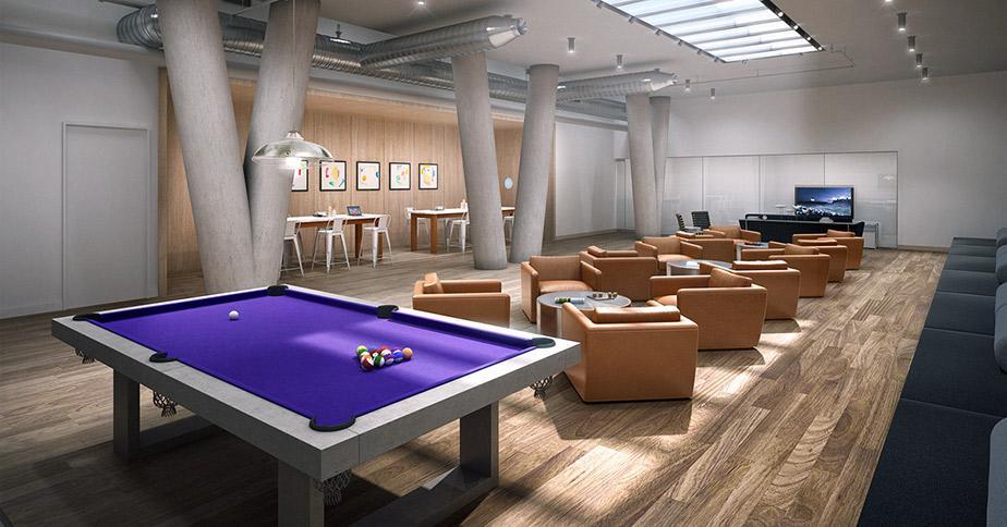 Wide variety of amenities at 170 Amsterdam Avenue - Billiard room