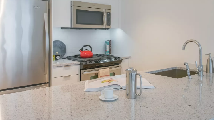 Open Kitchen at 170 Amsterdam Avenue in NYC - Condos for rent