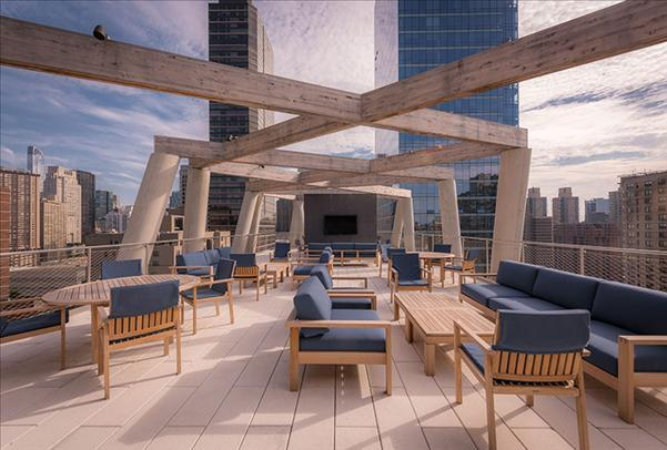 Rooftop Deck at 170 Amsterdam Avenue in Lincoln Square - Apartments for rent