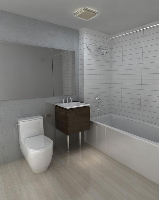 Bathroom at 172 Montague Street in NYC - Apartments for rent