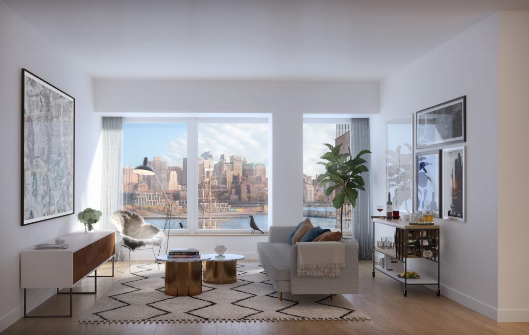 Livingroom at 180 Water Street in NYC - Apartments for rent
