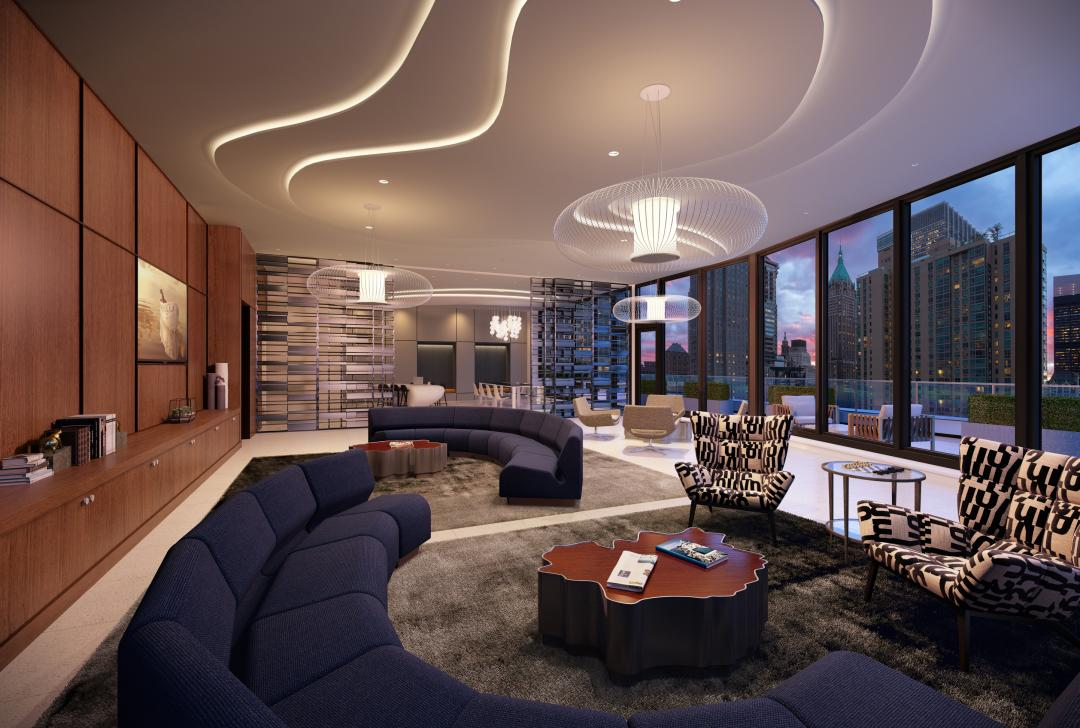 Apartments for rent at 180 Water Street in Manhattan - Lounge