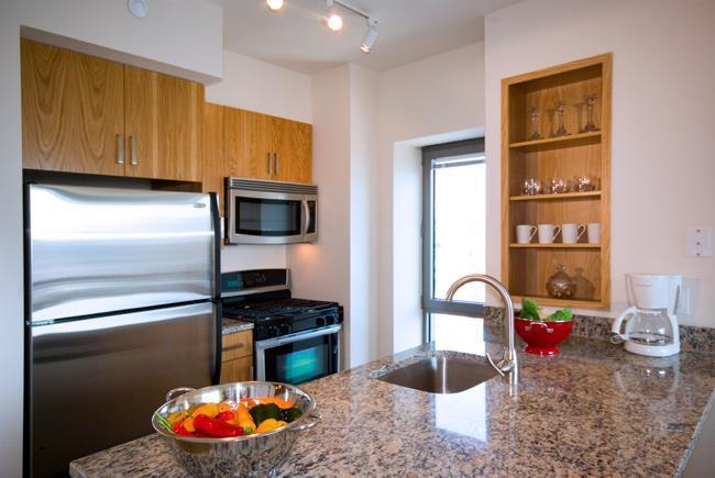 Kitchen of NYC Rental Apartments at The Ludlow