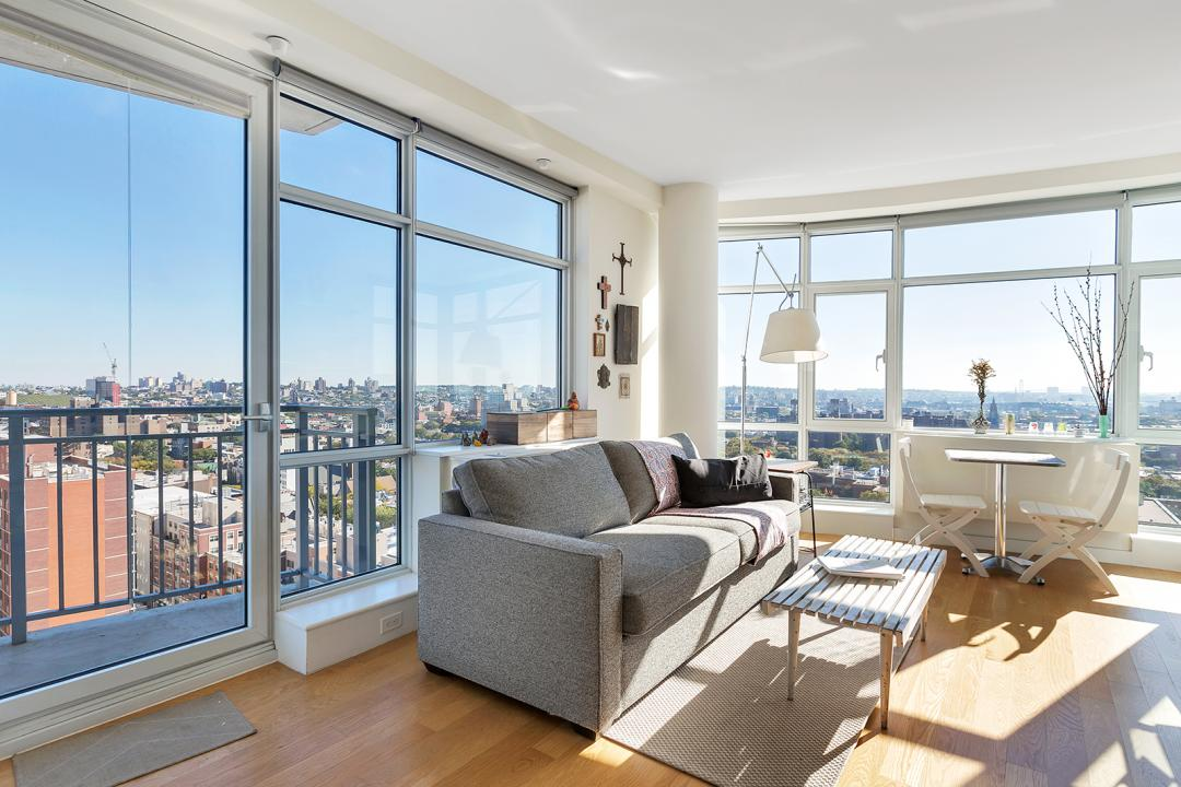Living Room Area at 189 Schermerhorn, Downtown Brooklyn Condominiums for Rent