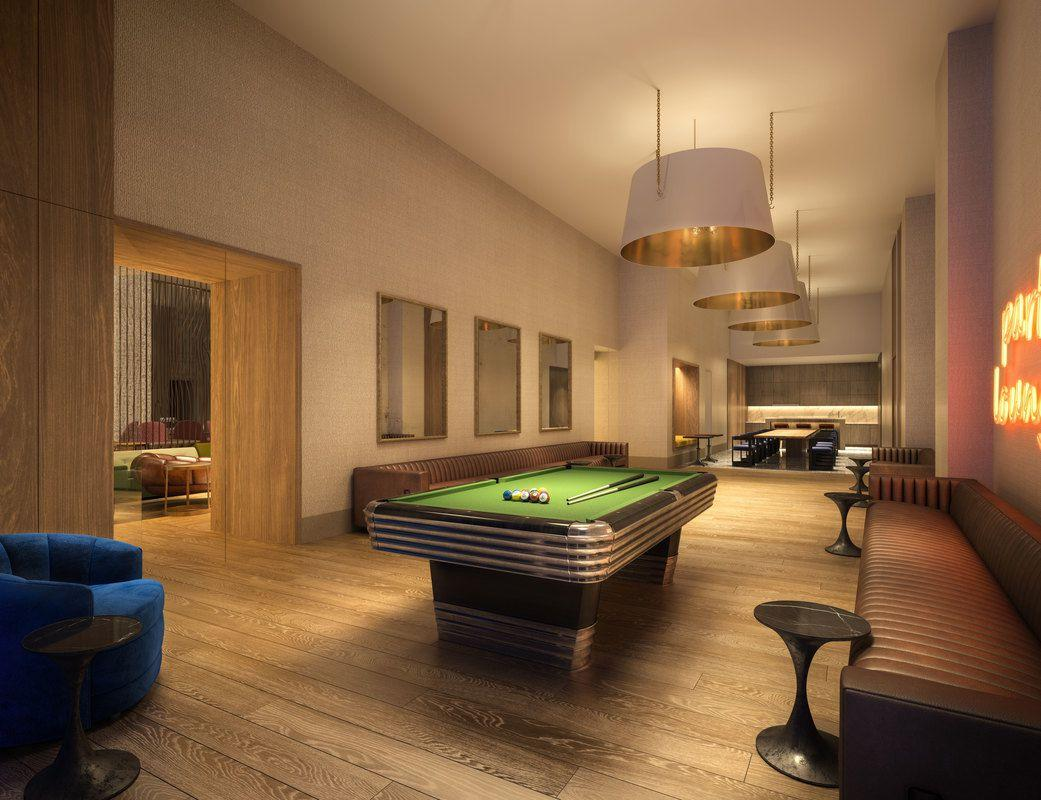 The Building's Pool Room at 19 Dutch Street