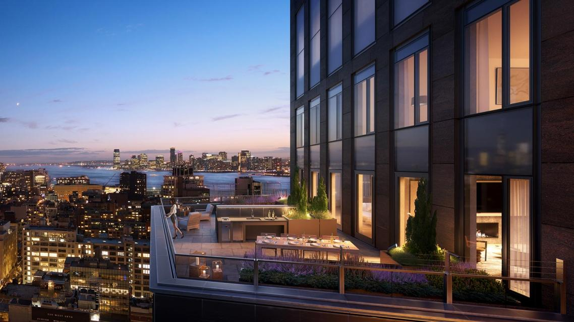 Private Terrace at One Hudson Yards in Manhattan