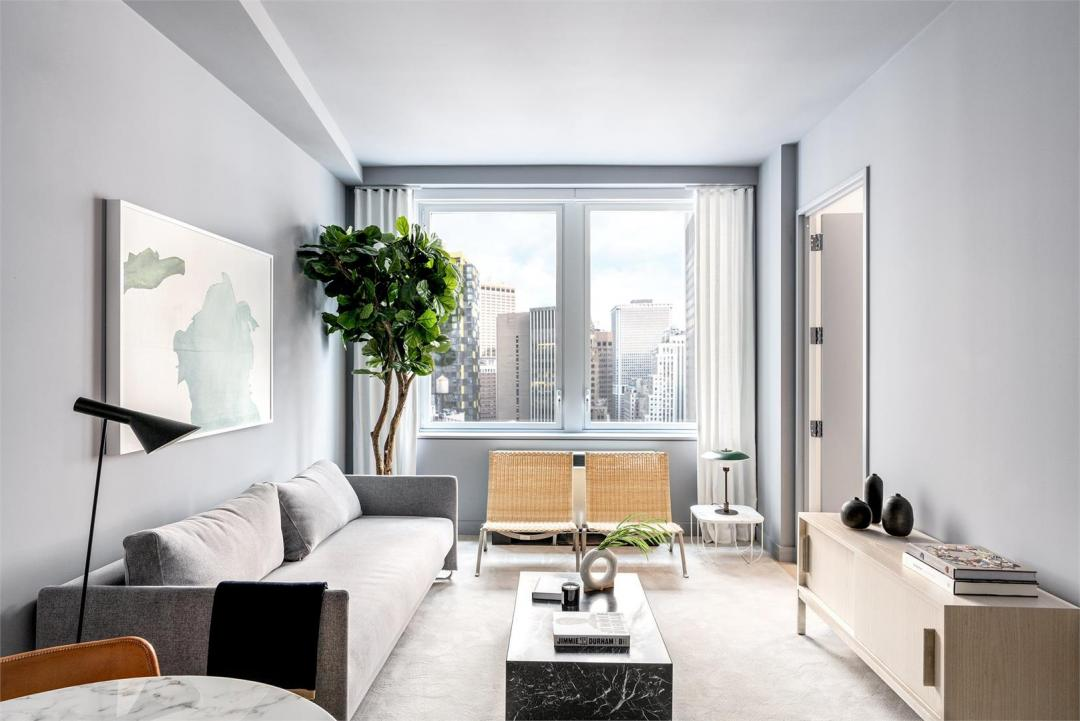 Living room at 20 Broad Street- Apartments for rent in NYC