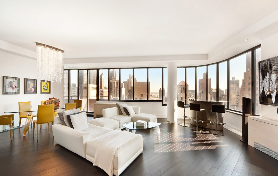 211 Madison Avenue Living Room - Murray Hill Luxury Apartments for Rent in NYC