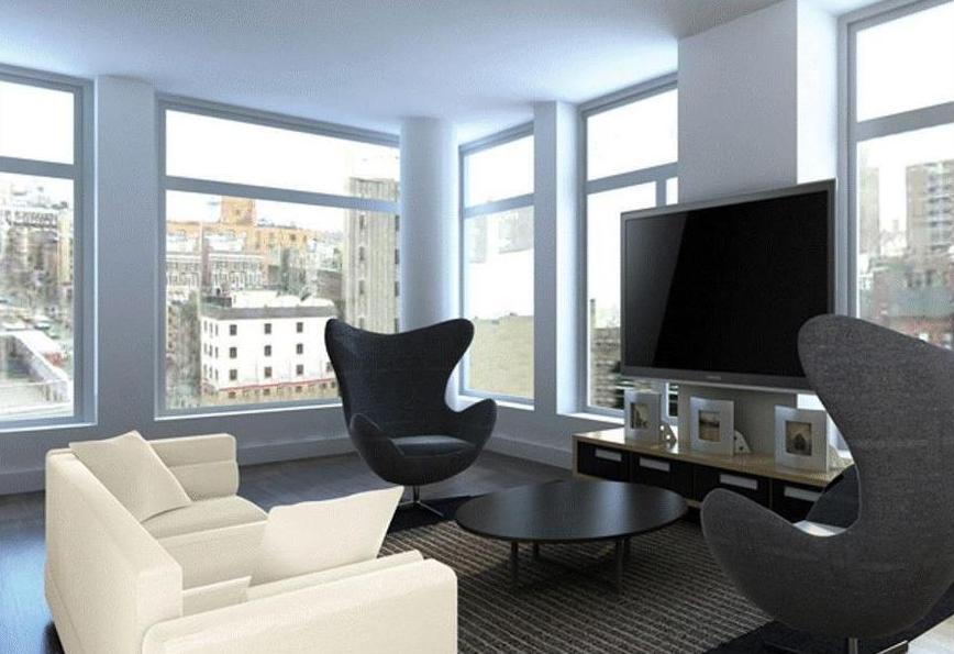 Jupiter 21 Living Room - Luxury Condominiums in Manhattan For Sale
