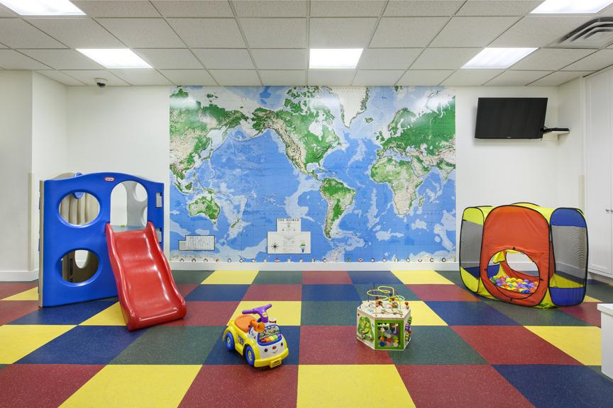 Children's Playroom inside the building at 21 West Street in Financial District