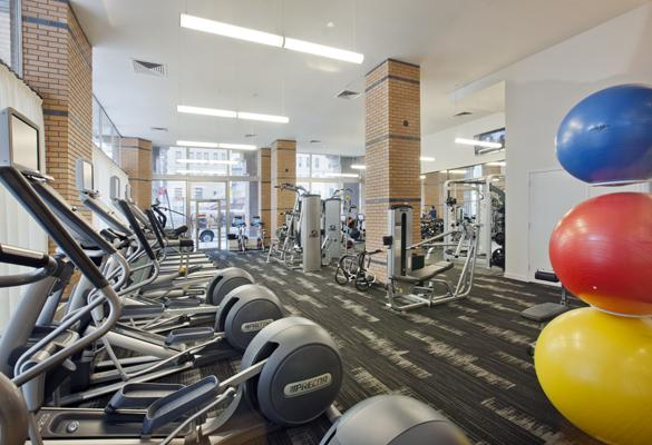 Wide variety of amenities at 21 West Street in Manhattan - Fitness Center