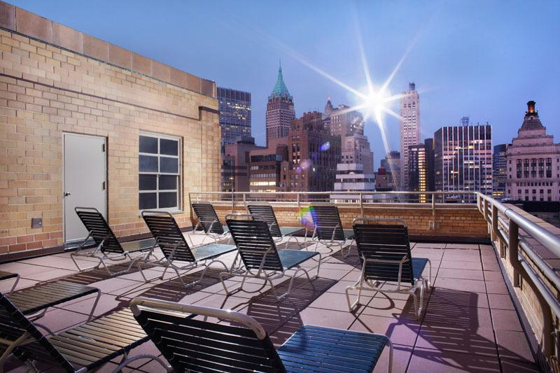 Rooftop Deck at Le Rivage in NYC - Condos for rent