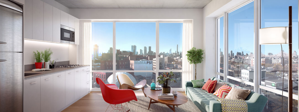 Livingroom at 22-22 Jackson Avenue in Long Island City