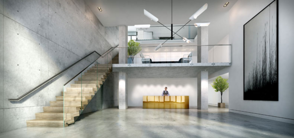 The Building's lobby at 22-22 Jackson Avenue in NYC