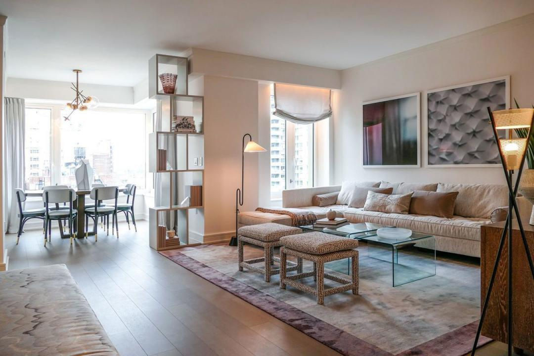 Living and Dining area at 222 West 80th Street - NYC Rental Apartments