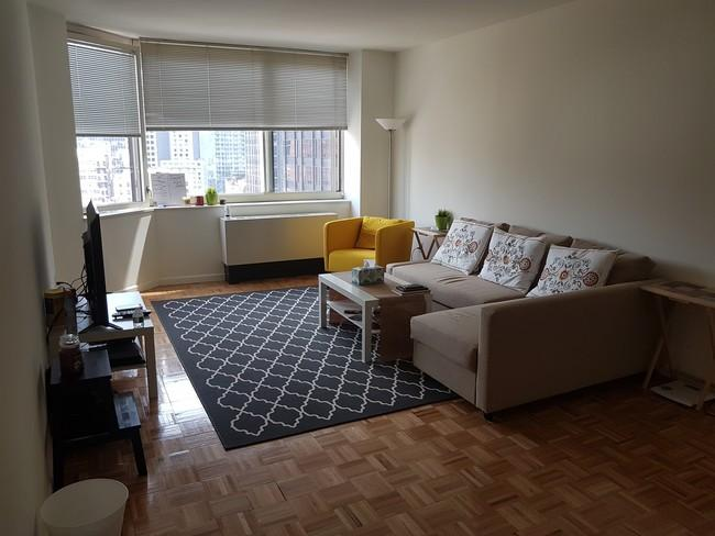 Rental Apartments at 250 West 50th Street Living Room