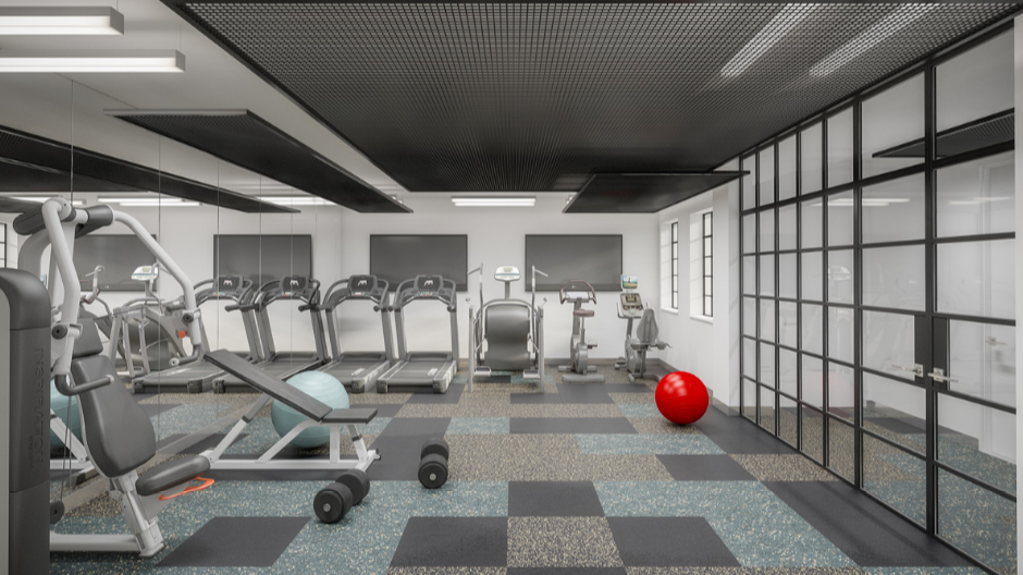 Fitness Center at 25 Monroe Place in NYC - Apartments for rent