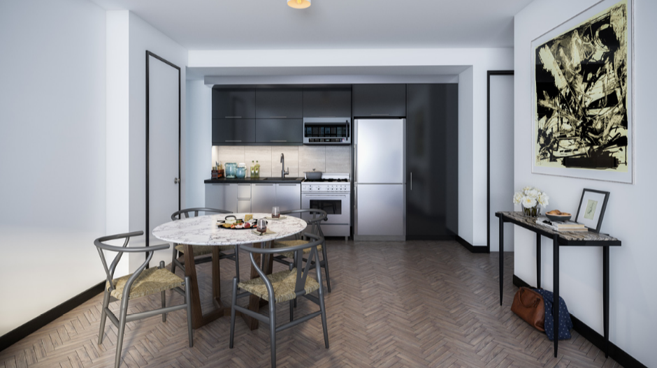 Open Kitchen at 25 Monroe Place in Brooklyn Heights