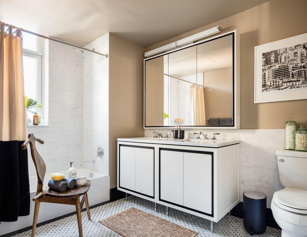 Bathroom at 261 Hudson Street in Soho - Apartments for rent