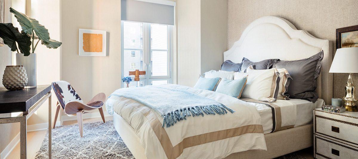 Bedroom at 261 Hudson Street in Soho