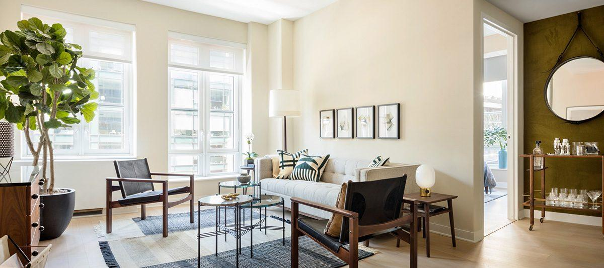Apartments for rent at 261 Hudson Street in NYC - Living Room
