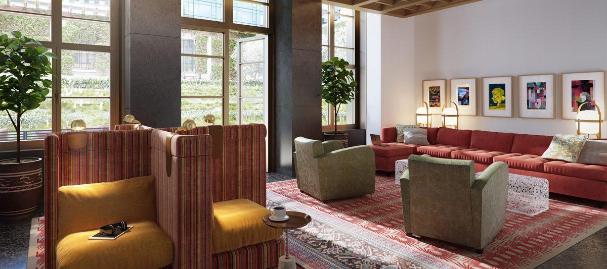 Rentals at 261 Hudson Street in Soho - Lounge