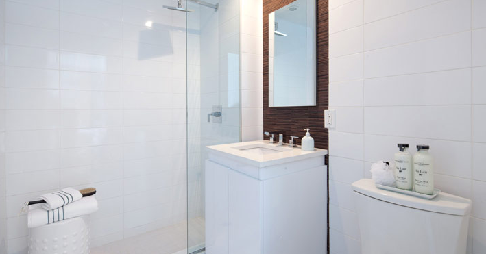 267 6th Street- bathroom with glass shower- Park Slope condo for rent
