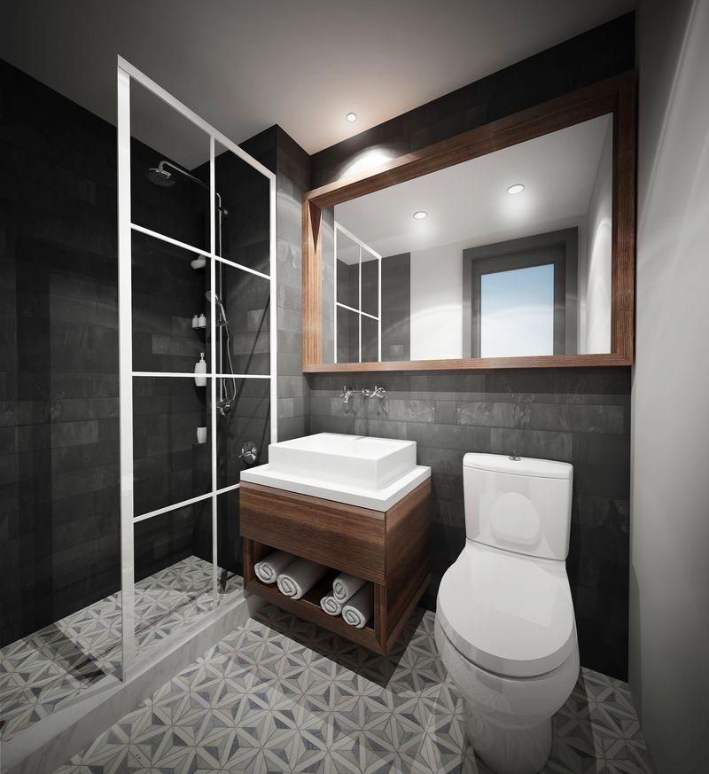 Bathroom at 26 West Street - NYC Apartments for rent