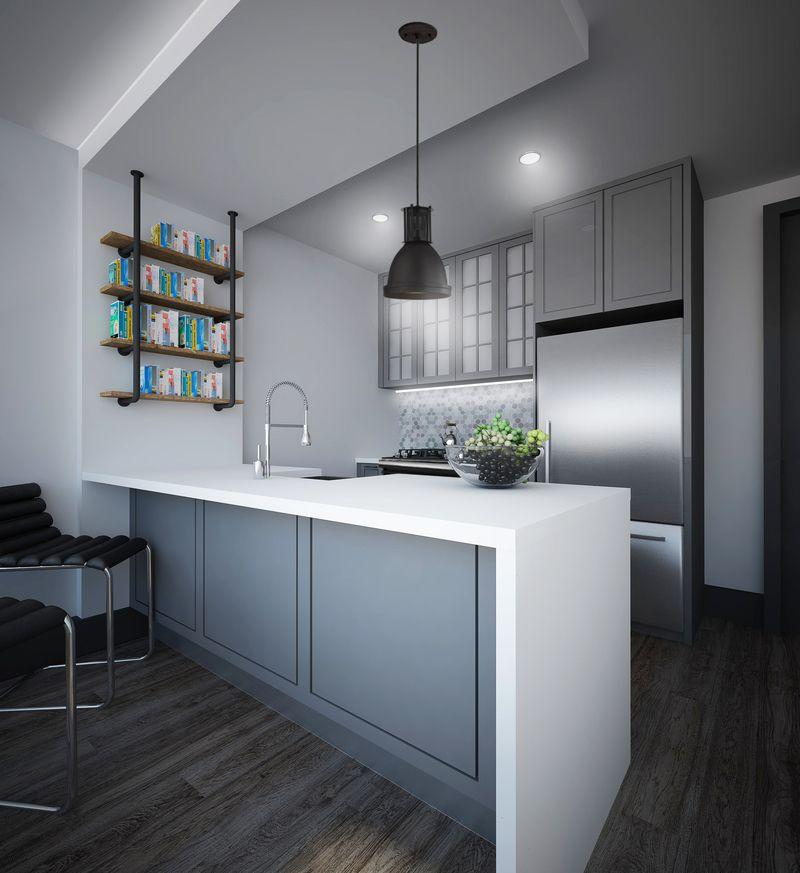 Kitchen at 26 West Street - NYC Apartments for rent