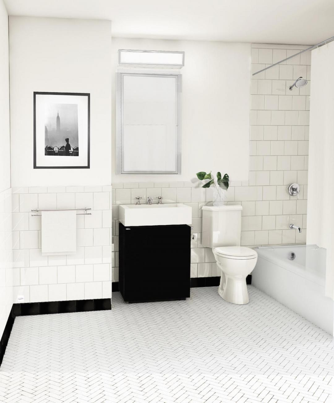 Bathroom at Two Bridges in NYC - Apartments for rent