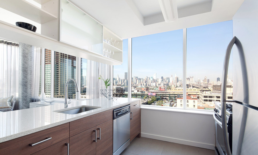 42-17 27th Street Kitchen With Beautiful New York View